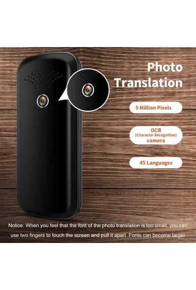 Tesıyı Kamera Tercümeli Çevrimdışı Dil Tercüman Cihazı (Mavi)