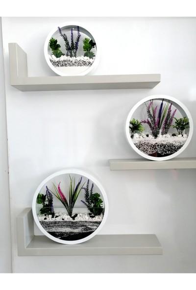 Mimika Store 3'lü Dekoratif Saksı Duvar ve Masa Süsü