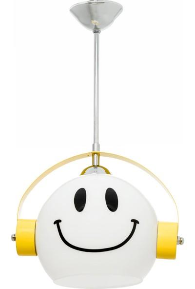 Sinem Avize Smile Sarı Gülenyüz Modern Spor Çoçuk Odası Avizesi