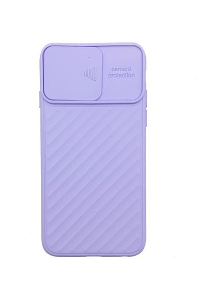 """Zümrah Apple iPhone 12 Pro (6.1"""") Lens Kamera Korumalı Silikon Kılıf Kapak Lila"""
