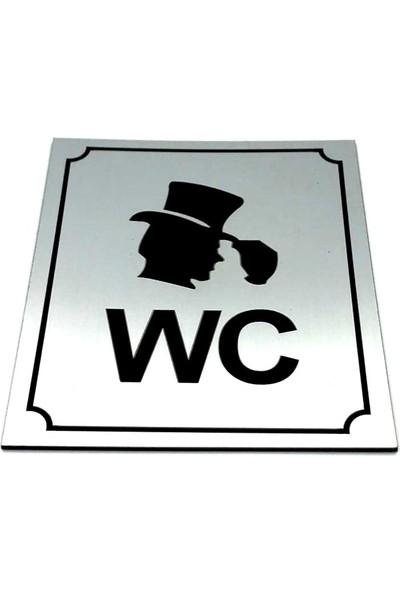 Se-Dizayn Wc Tuvalet Tabelası Bay, Kapı Yönlendirme Levhası 10 cm x 12 cm