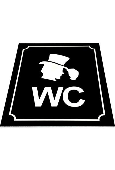 Se-Dizayn Wc Tabelası Bay Bayan Takım (2 Adet) Yönlendirme 10 cm x 12 cm
