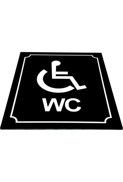Se-Dizayn Wc Tuvalet Tabelası Engelli Yönlendirme Levhası 10 cm x 12