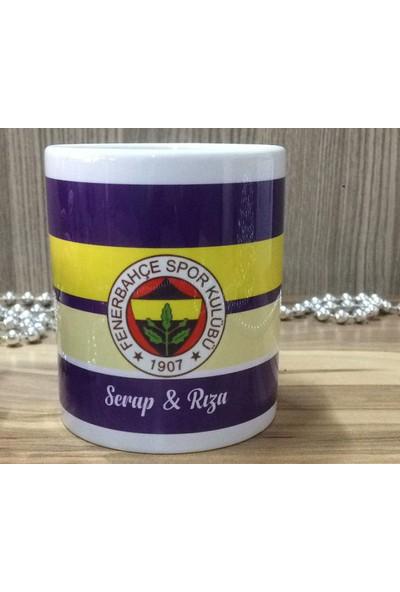Berk Lazer Isme Özel Fenerbahçe Taraftar Beyaz Kupa