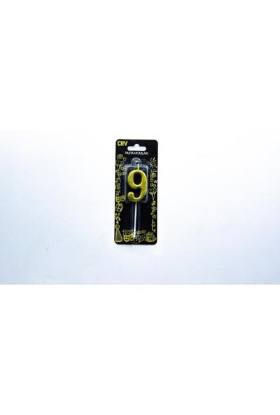 Crv Gold (Altın) -9- Rakam Mum 5cm Crv