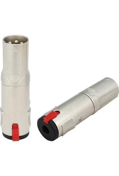 Roxtone RX-J386 Xlr 3pin Erkek - 6.3mm Stereo Dişi Çevirici