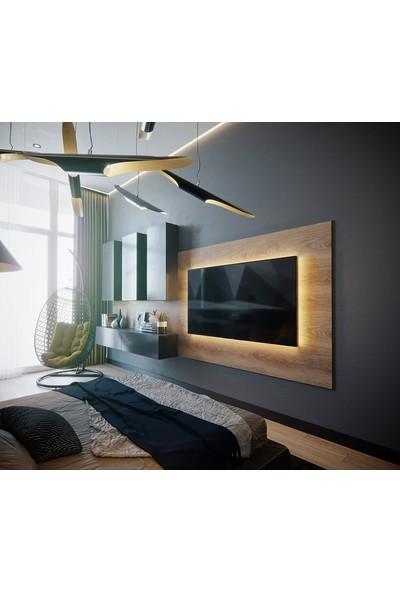 Mozide Özel Tasarım Backlit Tv Ünitesi