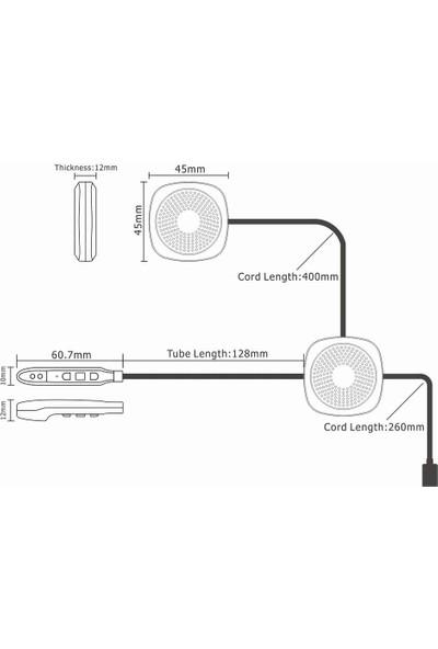 Auvc Motosiklet Kask Bt Kulaklık Bt 5.0 Kablosuz Motosiklet