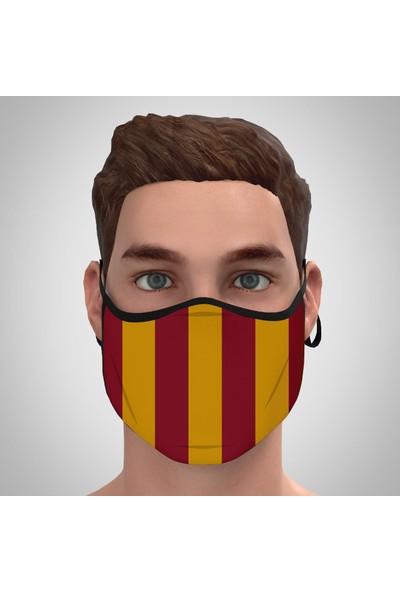 Park Row 4 Büyükler Nano Maske 3 Katlı Yıkanabilir Kumaş Ağız/yüz Koruyucu Ayarlanabilir Maske