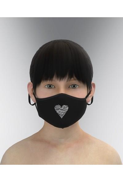 Parkrow 3 Katlı Yıkanabilir Nano Kız Çocuk Maske