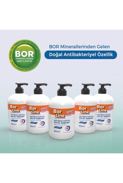 Borline %100 Yerli Bor Katkılı Antibakteriyel Sıvı El Sabunu 500 ml x5