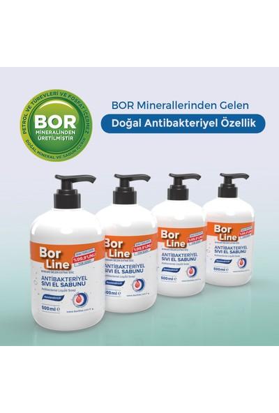 Borline %100 Yerli Bor Katkılı Antibakteriyel Sıvı El Sabunu 500 ml x4
