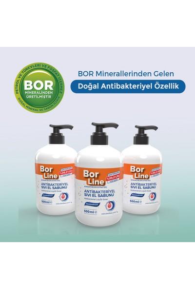 Borline %100 Yerli Bor Katkılı Antibakteriyel Sıvı El Sabunu 500 ml x3