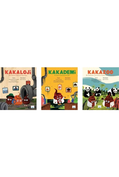 Elma Yayınevi Kakaloji / Kakademi / Kakazoo 3 Kitap Set