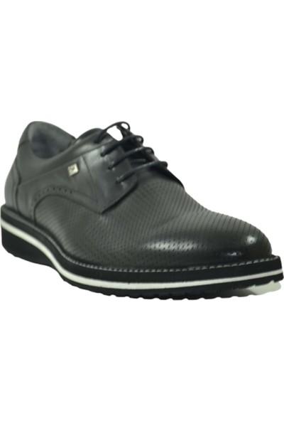 Fosco 2106 Deri Eva Taban Klasik Erkek Ayakkabı - Fosco - 2106 - Siyah-Beyaz - 43