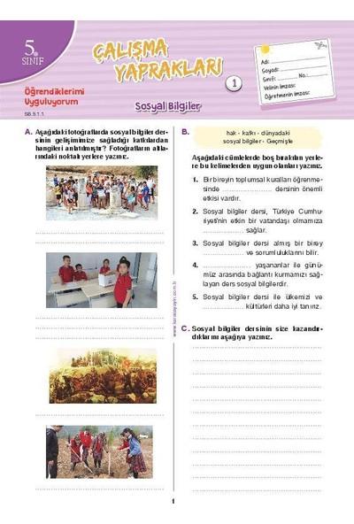 5. Sınıf Sosyal Bilgiler Etkinlikli Soru Bankası Çalışma Yaprakları