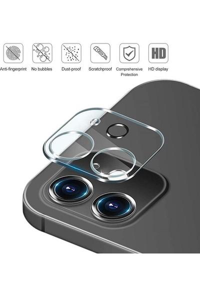 Engo Apple iPhone 12 Kamera Lens Koruyucu Temperli Cam