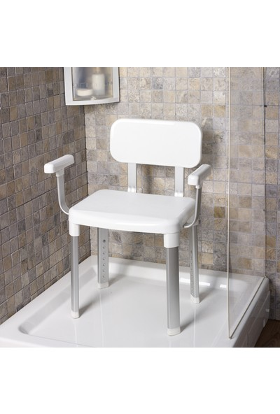 Primanova Kaymaz Paslanmaz Banyo Sandalye Tabure