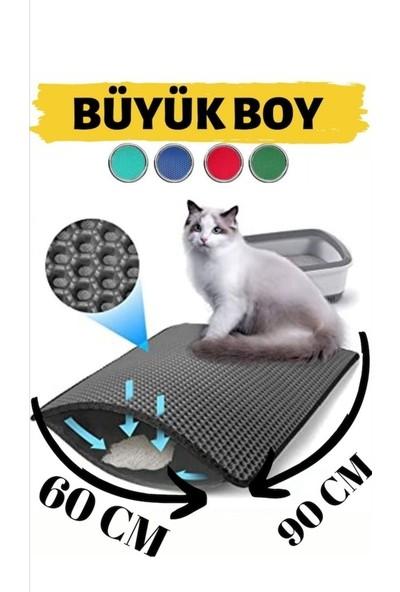 Zeepmax Elekli Kedi Tuvalet Önü Paspası Kum Toplayıcı Paspas 90 X60 cm Büyük Boy