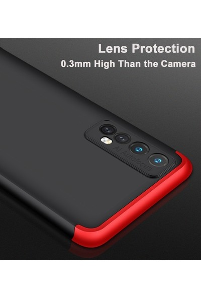 Realme 7 Pro Kılıf 360 Derece Tam Koruma AYS GKK İnce Sert Kapak Sert Polikarbon Kapak Siyah