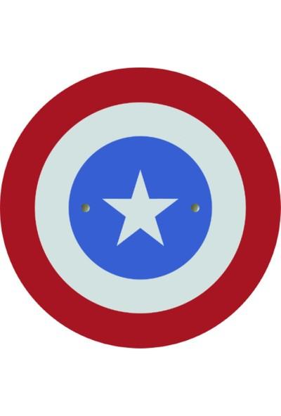 Ahtek Ahşap Oyuncak Seti 2'li, Kaptan Amerika Kalkan + Mavi Kılıç