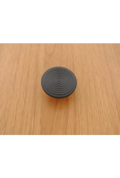 Azm Hırdavat Metax Kulp Elips Düğme Siyah