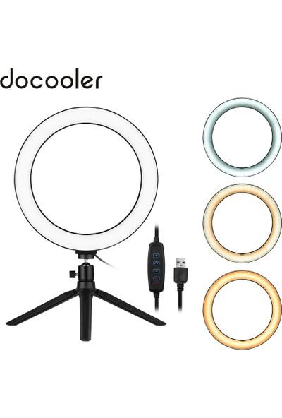 """Docooler 10"""" LED Halka Işık ile Tripod Standı 3200 (Yurt Dışından)"""
