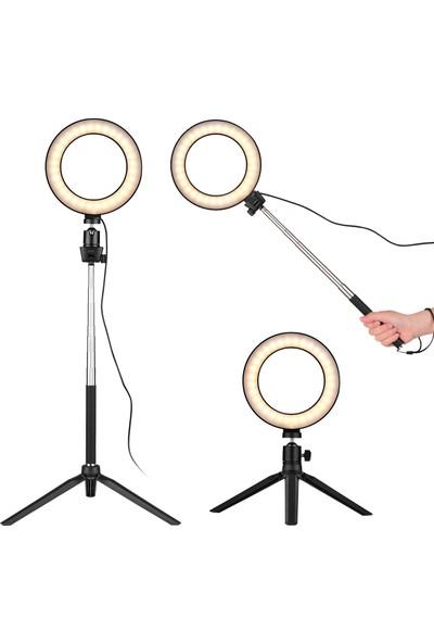 """Docooler 6"""" Mini LED Halka Işık Fotoğrafçılık Lamba (Yurt Dışından)"""