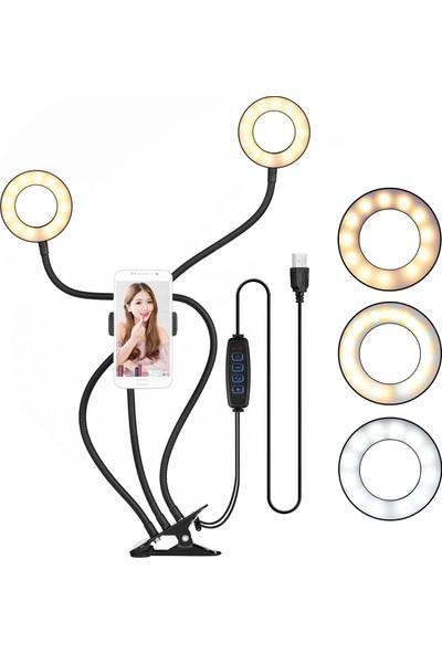 Docooler Klip-On Mini USB Halka Işık Doldurma Lambası (Yurt Dışından)