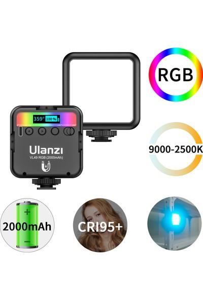 Ulanzi VL49 Rgb Cep LED Video Işığı Fotoğrafçılık Dolgu (Yurt Dışından)