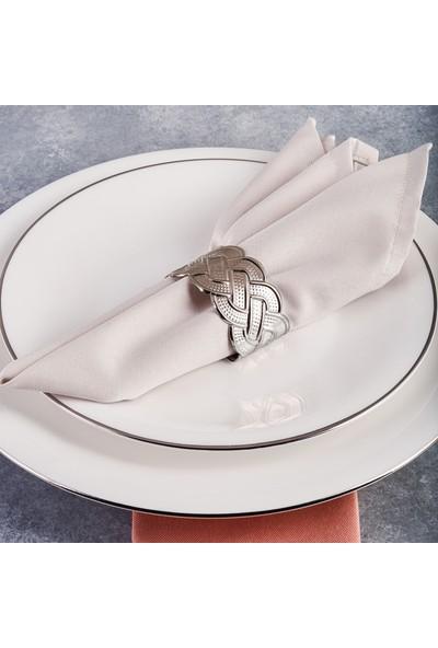 Karaca Rope Gümüş 6'lı Peçete Yüzüğü