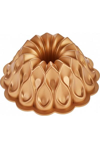 Emsan Damla 25 cm Gold Döküm Kek Kalıbı