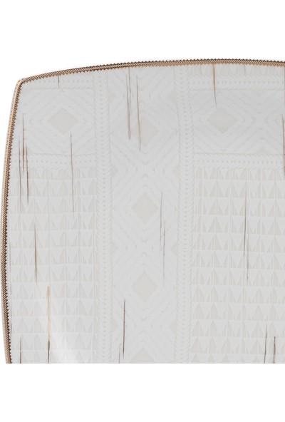 Karaca Batik Fine Cream 60 Parça 12 Kişilik Kare Yemek Takımı