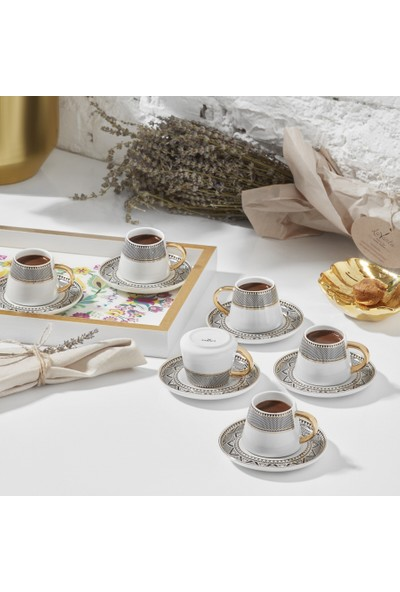 Karaca Globe 6 Kişilik Kahve Fincan Takımı