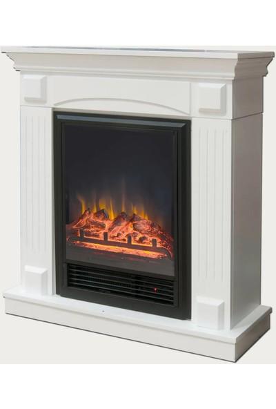 DLC Dekoratif Şömine Beyaz Fuego 1600W