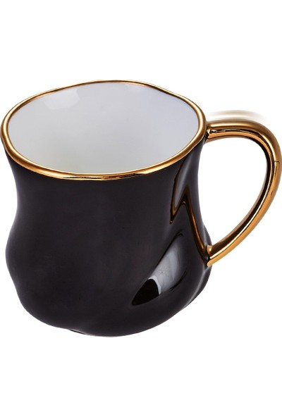 Karaca Tev Siyah 2 Kişilik Kahve Fincan Takımı Kutulu