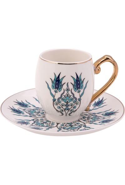Karaca İznik 6 Kişilik Kahve Fincan Takımı