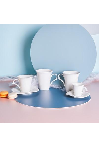 Karaca Tev 2 Kişilik Kahve Fincan Seti