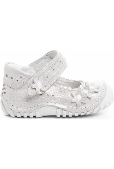 Teo Bebe Pudra Deri Kız Çocuk İlkadım Ayakkabısı