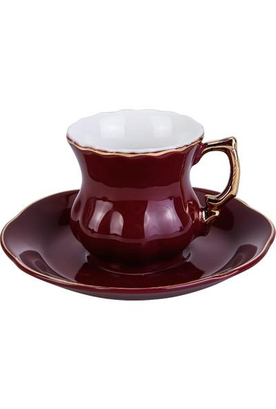 Karaca 3 Renk 1 Set 6 Kişilik Kahve Fincan Takımı