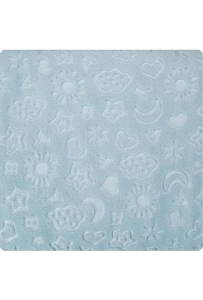Karaca Home Candy Mavi Bebek Embosy Battaniye