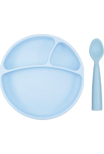 Oioi Beslenme Seti 2li Mavi Vakumlu Tabak + Nam Nam Kaşık