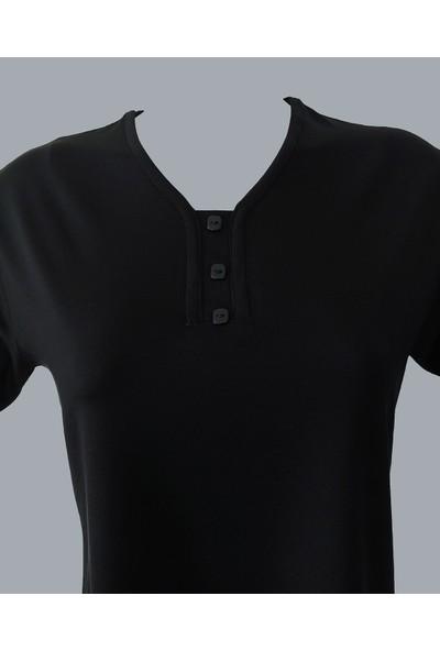 Rüya Siyah Anne V Yaka Penye Bluz