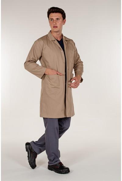 Mert Giyim Bej Gabardin Erkek İş Önlük