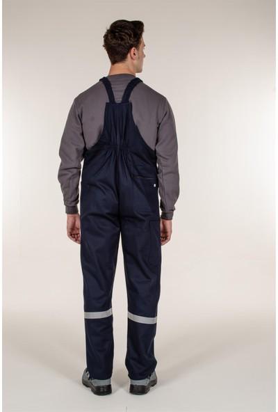 Mert Giyim Lacivert Askılı Tulum Reflektörlü Bahçıvan Model