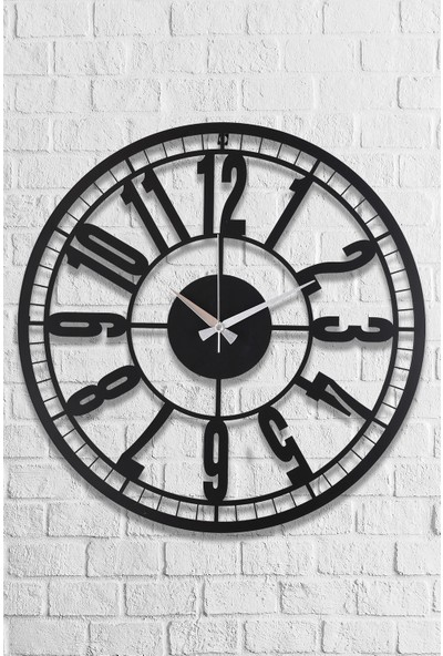 Muyi̇ka Bruno Metal Siyah Duvar Saati 50 x 50 cm