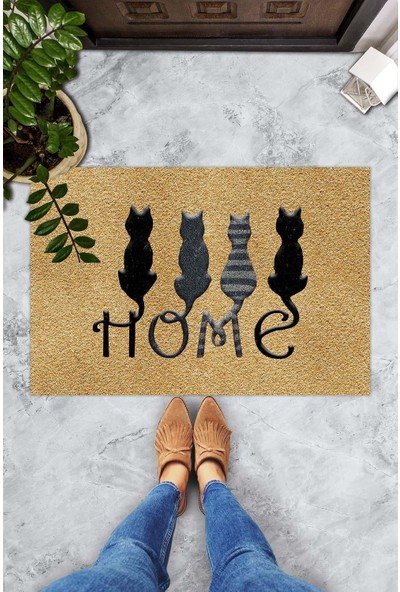 Pienso Home Home Kediler Dekoratif Kapı Önü Paspası
