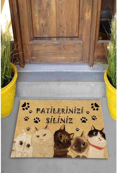 Pienso Home Patilerinizi Siliniz Dekoratif Kapı Önü Paspası