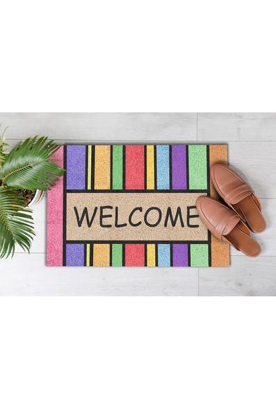 Pienso Home Çok Renkli Dekoratif Kapı Önü Paspası