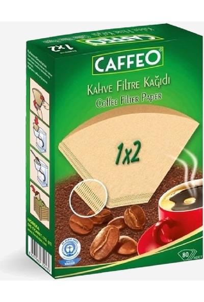 Caffeo Kahve Filtre Kağıdı 1 × 2 ( Doğal Kağıt ) 80'li